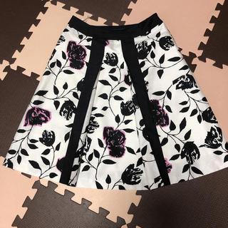 エムズグレイシー(M'S GRACY)のM'S GRACY エムズグレイシー 花柄スカート(ひざ丈スカート)