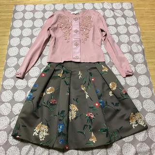 エムズグレイシー(M'S GRACY)のスカート 茶(ひざ丈スカート)