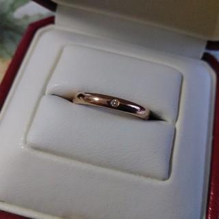 カルティエ(Cartier)のカルティエウェディングリング一粒ダイヤピンクゴールド(リング(指輪))