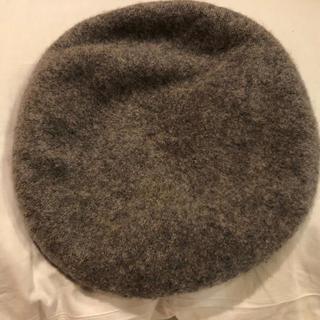 アースミュージックアンドエコロジー(earth music & ecology)の最終値引き ベレー帽 グレー(ハンチング/ベレー帽)