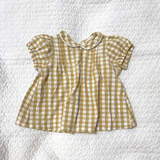 キャラメルベビー&チャイルド(Caramel baby&child )のlittle cotton clothes  チェックブラウス(ブラウス)