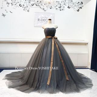 ウエディングドレス(六本骨パニエ無料) グレイチュール ブライダル披露宴(ウェディングドレス)