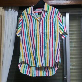 マルチカラー ストライプシャツ(シャツ/ブラウス(半袖/袖なし))