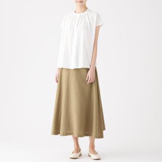 ムジルシリョウヒン(MUJI (無印良品))の無印良品 今期 リネン イージーマキシフレアスカート ベージュ マキシスカート(ロングスカート)