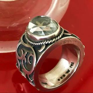 ◇シルバー925 リング◇ UZU 27g 銀製925 クリスタル(リング(指輪))