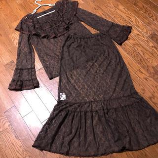 ピンクハウス(PINK HOUSE)のカネコイサオ 総レースブラウス スカート セット(セット/コーデ)