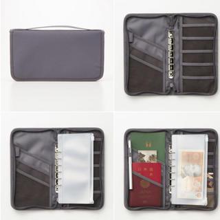 ムジルシリョウヒン(MUJI (無印良品))の<1回使用>無印 パスポートケース グレー(旅行用品)