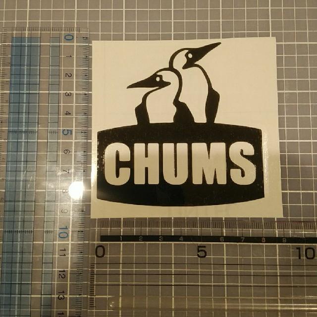 CHUMS(チャムス)のチャムス 黒 1枚 自動車/バイクのバイク(ステッカー)の商品写真