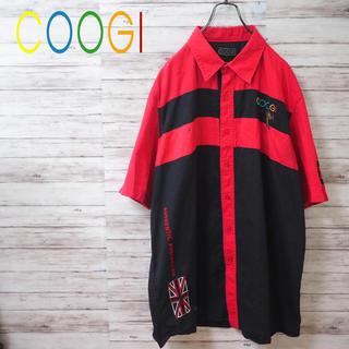 クージー(COOGI)のCOOGI ビッグシルエット 半袖シャツ 刺繍ロゴ 切替(シャツ)