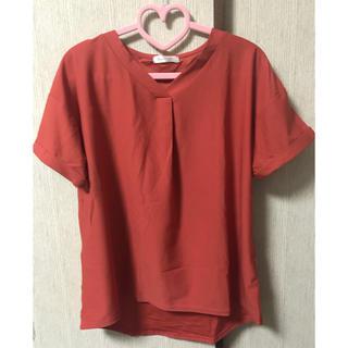 シマムラ(しまむら)の★くすみオレンジ色のTシャツブラウス(Tシャツ(半袖/袖なし))