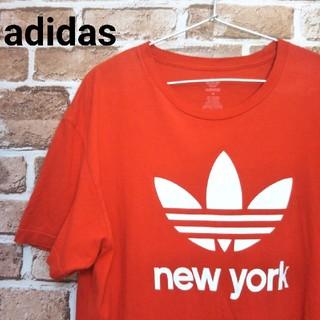 アディダス(adidas)のアディダス adidas 半袖 Tシャツ 赤トレフォイルロゴ(Tシャツ/カットソー(半袖/袖なし))