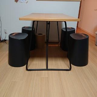 ムジルシリョウヒン(MUJI (無印良品))の無印良品折りたたみテーブル スタッキングスツール ダイニングセット(ダイニングテーブル)