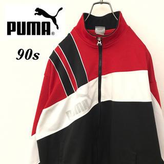 プーマ(PUMA)の【激レア】90sヒットユニオン製プーマ☆デカロゴクレイジートラックジャケット(ジャージ)