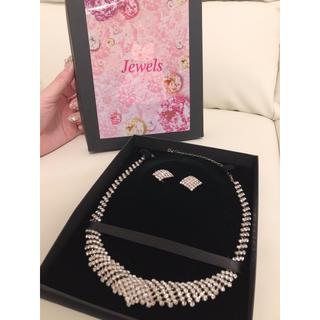 ジュエルズ(JEWELS)のネックレス イヤリング セット jewels 美品 ブライダル キャバ (ネックレス)