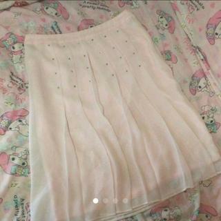 イネド(INED)の【新品】INED シフォンプリーツスカート  11(M)サイズ(ひざ丈スカート)