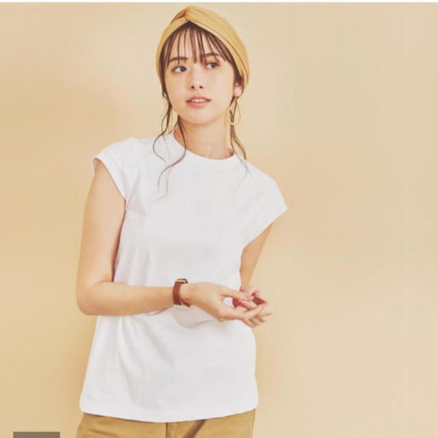 Drawer(ドゥロワー)のscye オーガニック度詰天竺フレンチスリーブトップ レディースのトップス(Tシャツ(半袖/袖なし))の商品写真