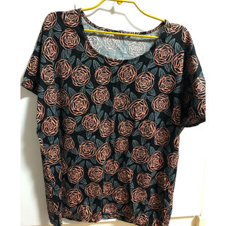 マリメッコ(marimekko)のmarimekko  マリメッコrosa バラ柄Tシャツ(Tシャツ(半袖/袖なし))