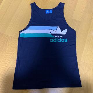 アディダス(adidas)の●美品・adidas originals・メンズM・ネイビー・タンク(Tシャツ/カットソー(半袖/袖なし))