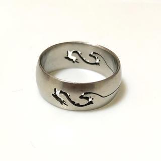 同時購入で300円 ステンレス指輪ドラゴン(リング(指輪))