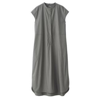 MUJI (無印良品) - 新品   無印良品  新疆綿ブロードフレンチスリーブワンピース