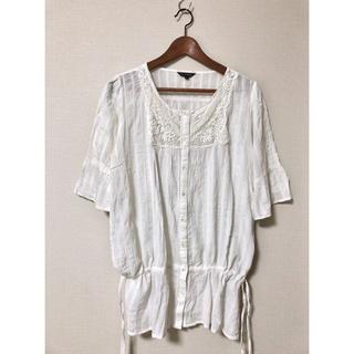 Santa Monica - vintage cotton blouse 刺繍 コットンブラウス ホワイト