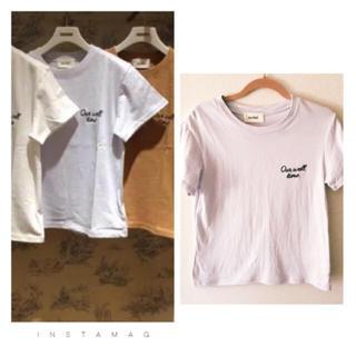 スナイデル(snidel)のスナイデル ワンポイント ロゴ Tシャツ(Tシャツ/カットソー(半袖/袖なし))