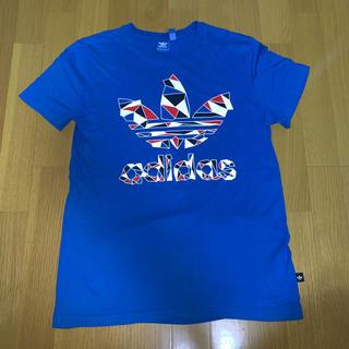 アディダス(adidas)の●adidas originals・青Tシャツ・メンズL(Tシャツ/カットソー(半袖/袖なし))
