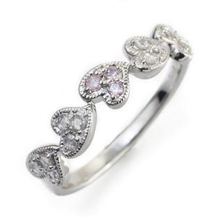 超美品 ベーネベーネ アーガイル産 ピンクダイヤモンド k18 wg 17号(リング(指輪))