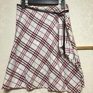 バーバリーブルーレーベル(BURBERRY BLUE LABEL)のバーバリーブルーレーベル 巻きスカート サイズM(ひざ丈スカート)