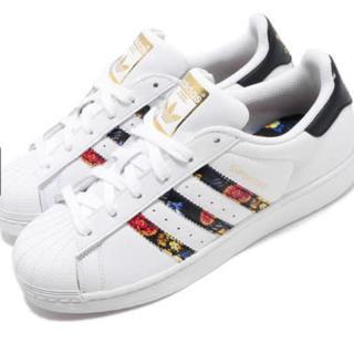 アディダス(adidas)のadidasスーパースター定価16200円以上‼️フラワーパターン‼️(スニーカー)