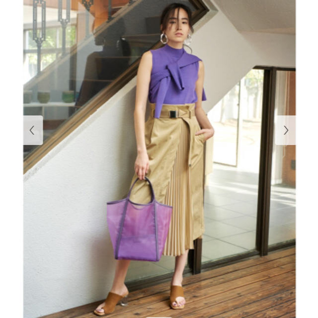 FRAY I.D(フレイアイディー)のフレイアイディー プリーツコンビタイトスカート レディースのスカート(ロングスカート)の商品写真