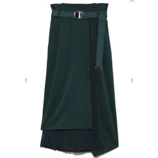 フレイアイディー(FRAY I.D)のフレイアイディー プリーツコンビタイトスカート(ロングスカート)