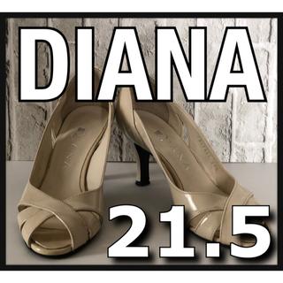 ダイアナ(DIANA)のDIANA ダイアナ ハイヒール オープントゥパンプス ベージュ 21.5cm(ハイヒール/パンプス)