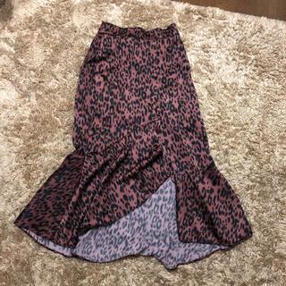 ディーホリック(dholic)のモコブリング 変形レオパードスカート(ひざ丈スカート)