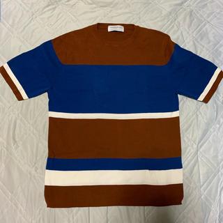 トゥモローランド(TOMORROWLAND)のTOMORROWLAND tricot 半袖ニット ボーダー M(ニット/セーター)