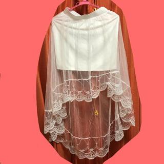マーキュリーデュオ(MERCURYDUO)のフレア シフォン チュール ホワイト スカート(ミニスカート)