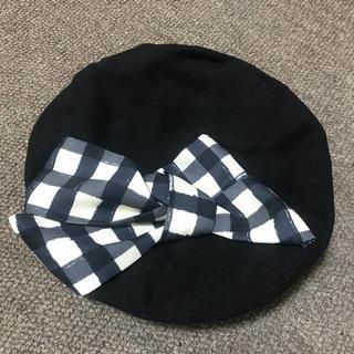 アンアナザーアンジェラス(an another angelus)のギンガムチェックリボンベレー帽(ハンチング/ベレー帽)