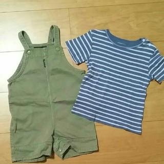 コムサイズム(COMME CA ISM)の値下げ まとめうり コムサイズム オーバーオール 80サイズ Tシャツ 90(カバーオール)