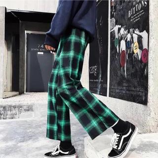 チェックパンツ 黒 赤 緑 黄色 オルチャン 韓国 ダンス スケボー 衣装(その他)