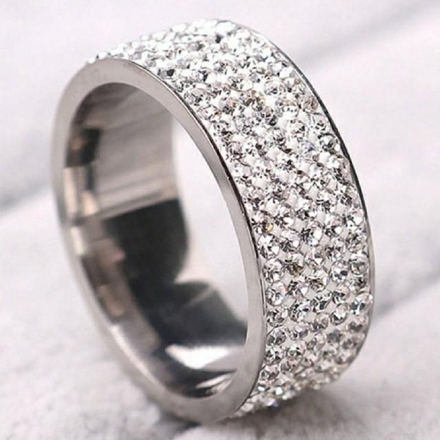 ジルコニアリング シルバーリング キラキラ メンズリング レディースリング16号 メンズのアクセサリー(リング(指輪))の商品写真