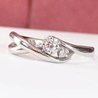 エル(ELLE)のプラチナ ダイヤモンド リング(リング(指輪))