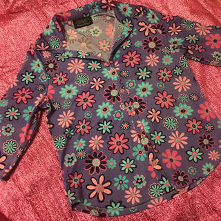 Santa Monica - 花柄 レトロポップ オープンカラーシャツ