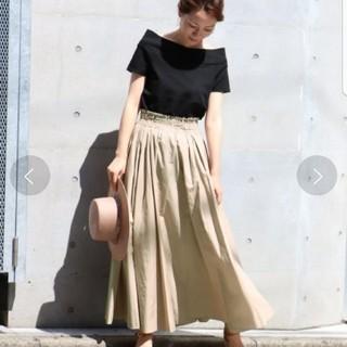 ノーブル(Noble)の★美品★Noble Pスパン タイプライタータックギャザースカート(ロングスカート)