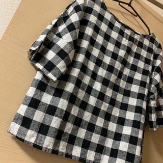 ジーユー(GU)のgu リネンブレンドTブラウス(シャツ/ブラウス(半袖/袖なし))