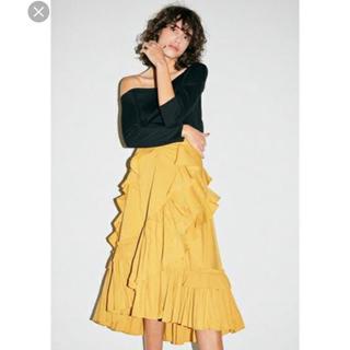フレイアイディー(FRAY I.D)のフリルプリーツアシメスカート(ロングスカート)