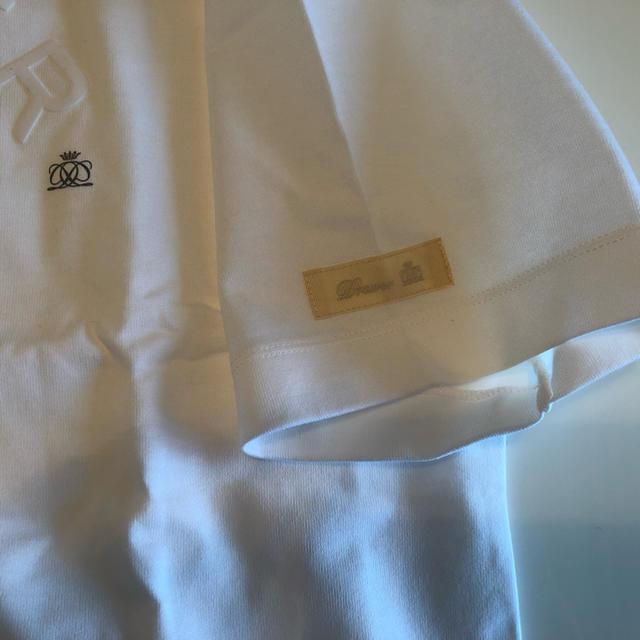 Drawer(ドゥロワー)の新品未使用 ドゥロワー Drawer フロッキープリントプルオーバー Tシャツ レディースのトップス(Tシャツ(半袖/袖なし))の商品写真
