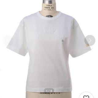新品未使用 ドゥロワー Drawer フロッキープリントプルオーバー Tシャツ