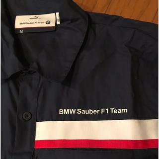 ビーエムダブリュー(BMW)の激レア★BMW ×プーマ コラボ シャツ F1チーム ネイビー(Tシャツ/カットソー(半袖/袖なし))