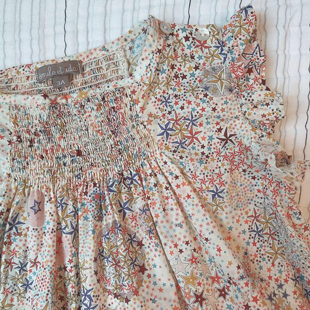 Bonpoint(ボンポワン)のemile et ida 19SS リバティドレス 3a 美品 キッズ/ベビー/マタニティのキッズ服 女の子用(90cm~)(ワンピース)の商品写真