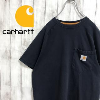 carhartt - 90s 古着 carhartt カーハート ワンポイントロゴ ネイビー Tシャツ